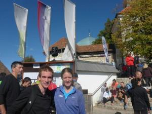 Simon Lechtleitner mit der mehrfachen Berglauf-Weltmeisterin Andrea Mayr